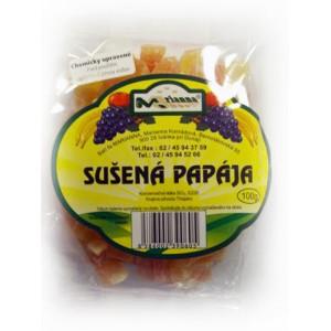 Sušená papája plátky 100g