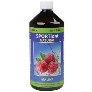 Iontový nápoj SPORTiont Natural - malina
