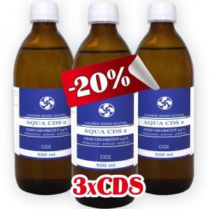 3x CDS2 - Oxid Chloričitý 0,3% (500ml)