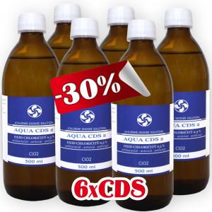 6x CDS2 - Oxid Chloričitý 0,3% (500ml)