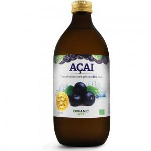 Acai Bio 100% šťáva premium quality 500 ml