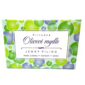 Olivové mýdlo Jemný píling 80g