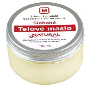 Šlehané tělové máslo: NATURAL 100ml