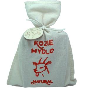 Mýdlo z kozího mléka NATURAL S ČERVENÝM JÍLEM - pytlík 110g