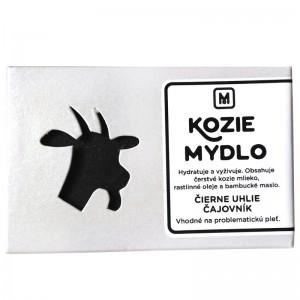 Mýdlo z kozího mléka ČERNÉ UHLÍ & ČAJOVNÍK 110g