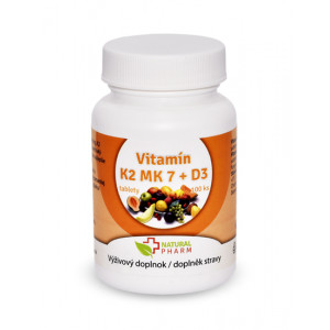 Vitamin K2 MK-7 + D3 tablety 100 ks