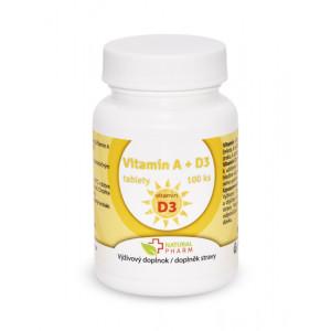 Vitamín A+D3 tablety 100 ks